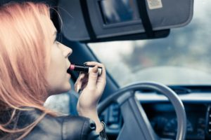 Put on Makeup While Driving