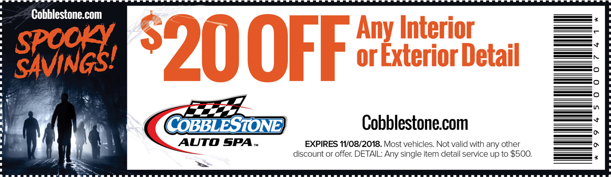 Spooky October Savings - Save 20% Off any Interior Detail