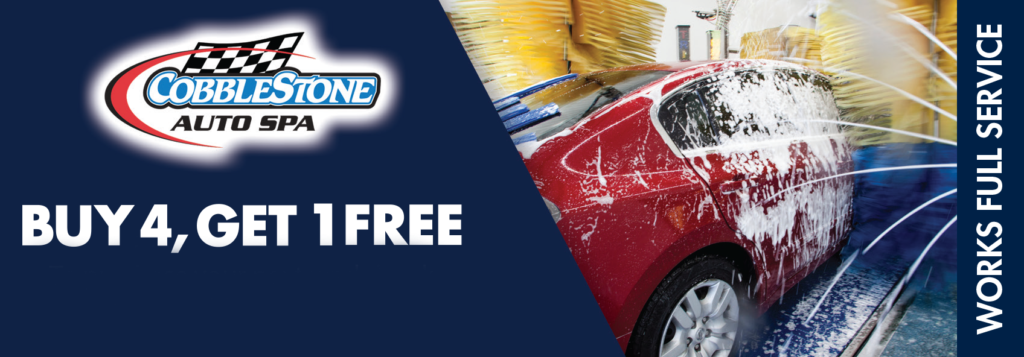 Buy 4 Get 1 Free Cobblestone Auto Spa Car Wash Oil Changes